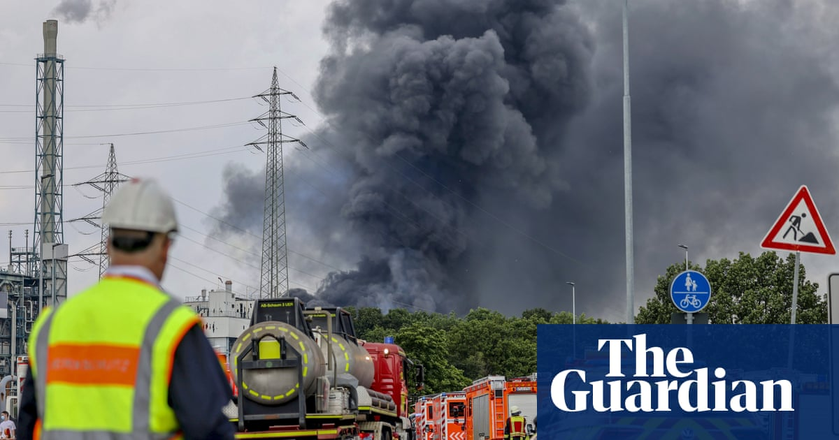 Smoke rises after explosion at German chemicals site – video