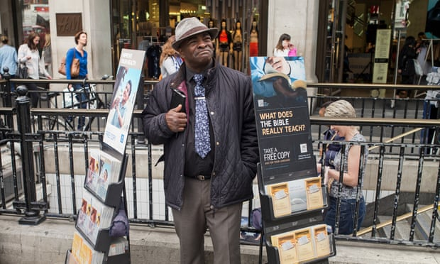 A Jehovah's Witness in London. 'These were some of the most persecuted Christians of the 20th century.