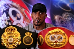 Anthony Joshua will defend his titles at Madison Square Garden on 1 June