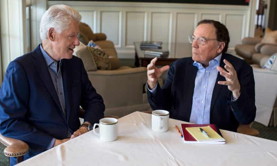 'This novel is missing several things': Bill Clinton and his co-author, James Patterson, at GlenArbor golf club, Bedford Hills, New York.