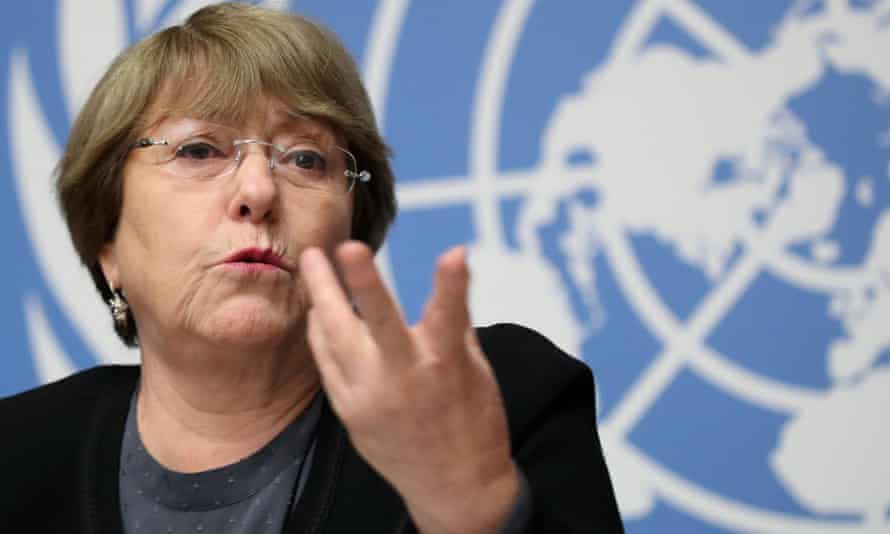 Michelle Bachelet, the UN high commissioner for human rights