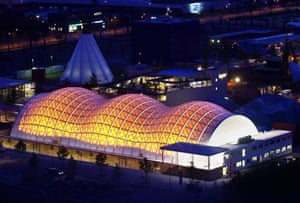 The Japanese pavilion at the Expo ground in Hanover, Germany.