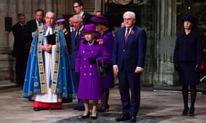 The Queen and Frank-Walter Steinmeier at Westminster Abbey.