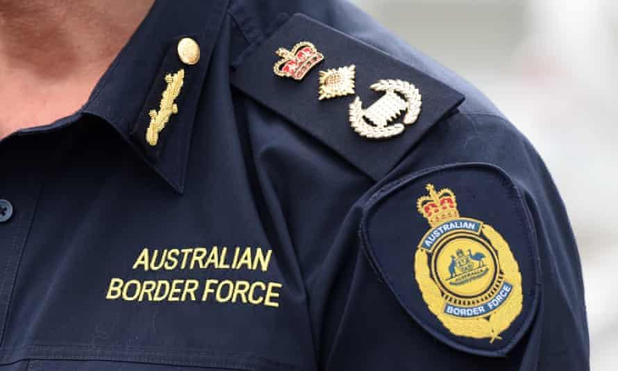 Australian Border Force logos and rank on a uniform