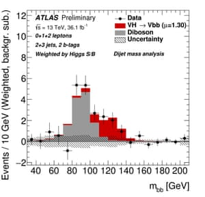 ATLAS data on the decay of the HIggs boson to bottom quarks