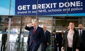Boris Johnson outside the conference venue
