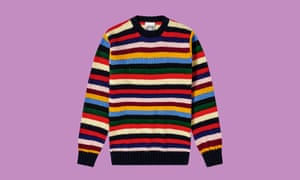 Jamieson's of Shetland men's stripe crew knit jumper