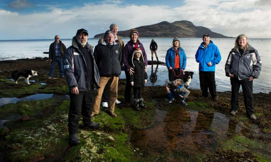 Howard Wood and fellow members of the Community of Arran Seabed Trust.