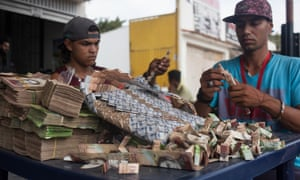 Some Venezuelans find a way to use devalued money that is now just paper.