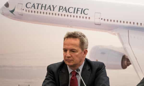 Rupert Hogg resigned as Cathay Pacific chief executive