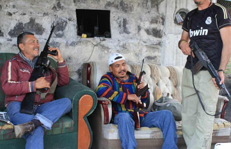 Civilian gunmen in Tancitaro.