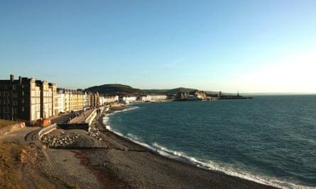 The Marine Terrace area of Aberystwyth
