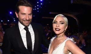 Bradley Cooper and Lady Gaga, whose film A Star Is Born is up for multiple nominations.