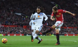 Daley Blind fires Manchester United into a half-time lead.