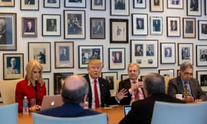 Donald Trump meeting with reporters at The New York Times building, on 22 November, 2016.