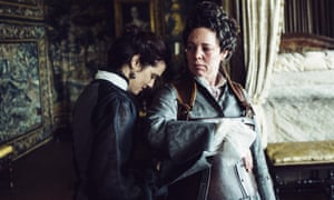 Rachel Weisz, left, and Olivia Colman in The Favourite.