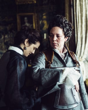 A thing of joy … Olivia Colman as Queen Anne in The Favourite.