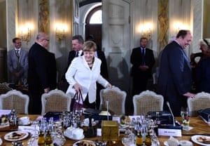 Meseberg, Germany: Chancellor Angela Merkel