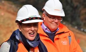 Liberal candidate for Eden-Monaro Fiona Kotvojs with prime minister Scott Morrison