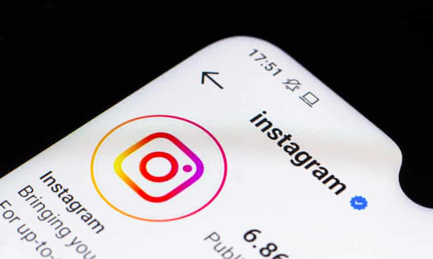 Instagram on a smartphone.
