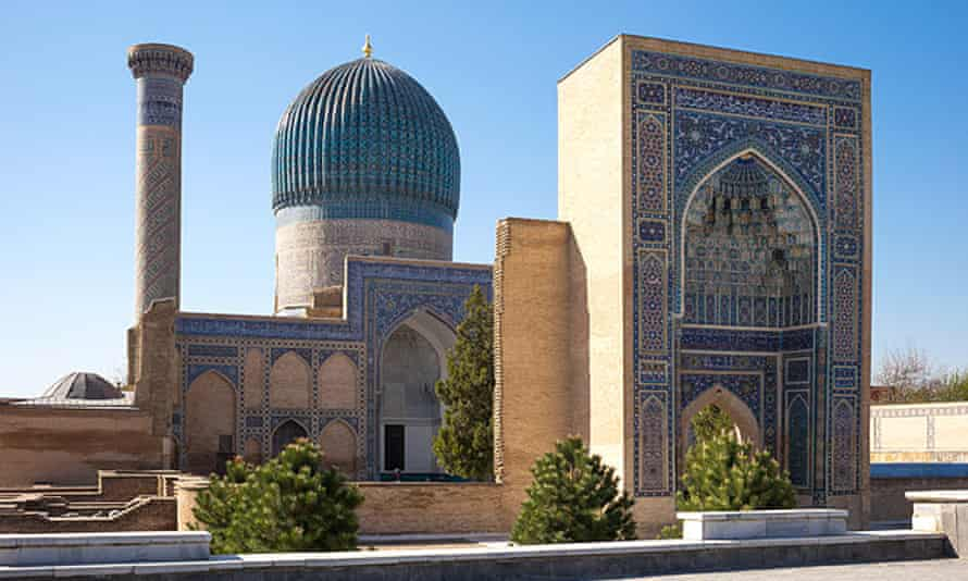 The Gur-Emir mausoleum at the tomb of Tamerlane, Samarkand.