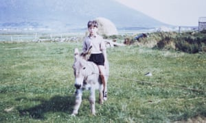 author kevin toolis riding a donkey during his childhood in county mayo