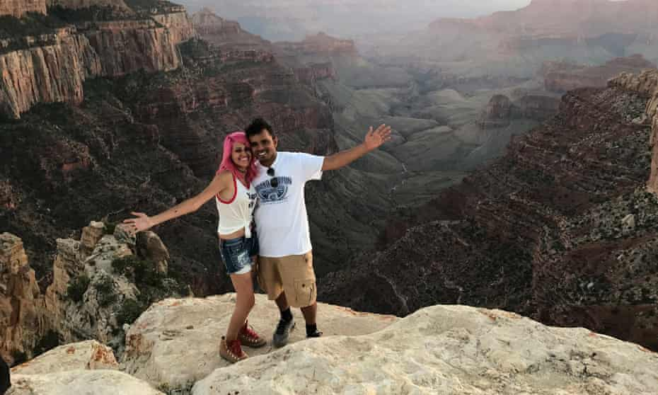 Meenakshi Moorthy and Vishnu Viswanath at the Grand Canyon. Friends and family remember the couple as loving and optimistic.
