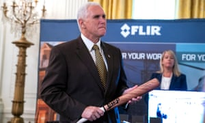 The US vice-president, Mike Pence, holds a BWP baseball bat in the East Room