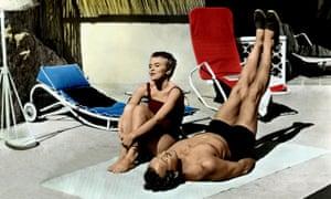Jean Seberg and David Niven in the 1958 film of Bonjour Tristesse.