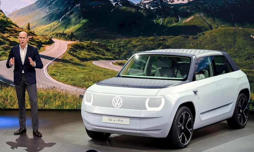 Volkswagen board member Ralf Brandstaetter presents the VW ID.Life at the International Motor Show IAA in Munich