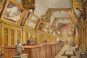The Fitzwilliam Collection Housed in the Perse by British artist Richard Bankes Harraden (1778-1862).