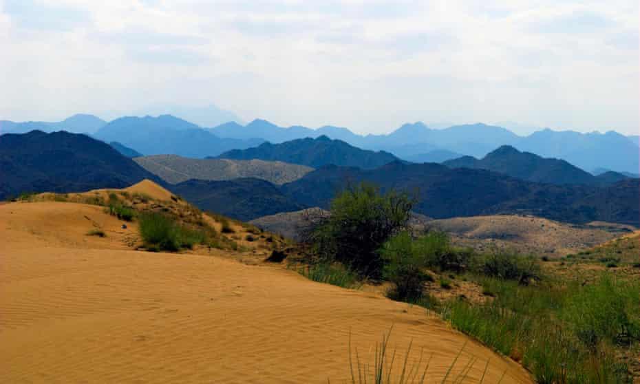 The Al Hajar mountains in the Jabal al Akhdar area.