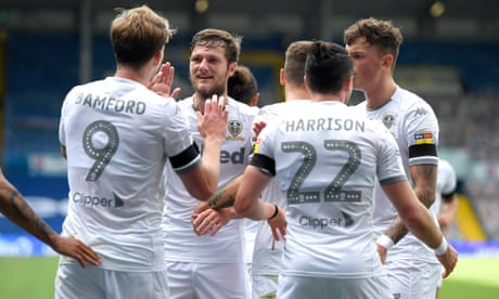 Leeds one point from Premier League promotion after win over Barnsley