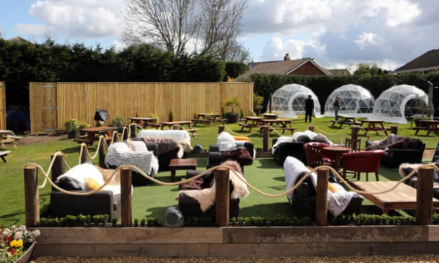 The redesigned outdoor areas of The Hare & Hounds pub in West Ardsley, near Wakefield.
