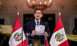 Martín Vizcarra announces the dissolution of Congress on Monday night.