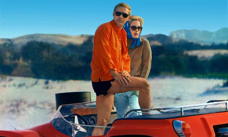 Steve McQueen and Faye Dunaway in The Thomas Crown Affair, 1968, for which Haskell Wexler used multiple images, splitscreen and zooms.