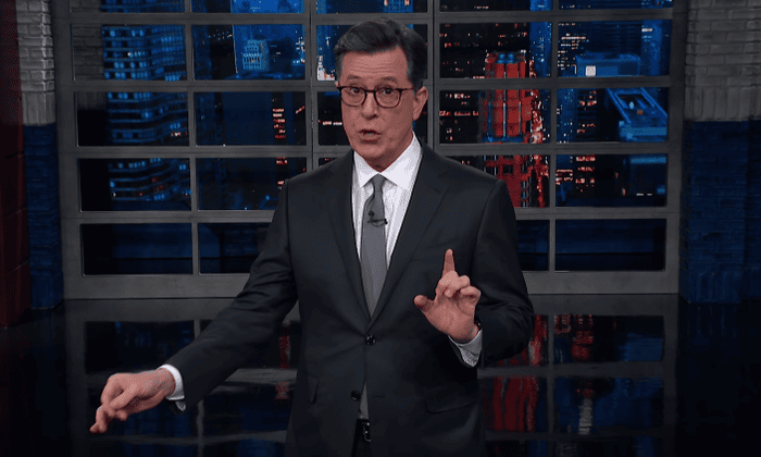 e804ca8313d99 Stephen Colbert   Trump is denying US intel and reality