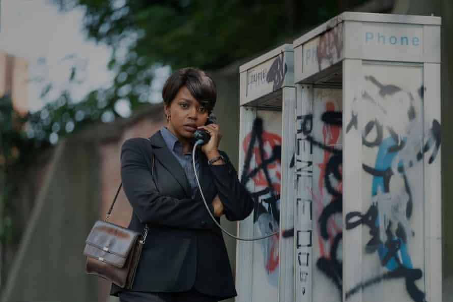 Suffering the travails of working for a white boys' club in 70s America … Jerrika Hinton as Millie Malone.