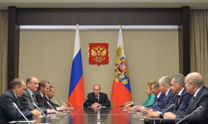 Vladimir Putin holds a meeting of the Russian security council