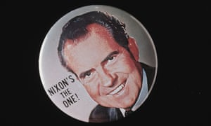 A button for Republican candidate Richard Nixon in the 1968 election.
