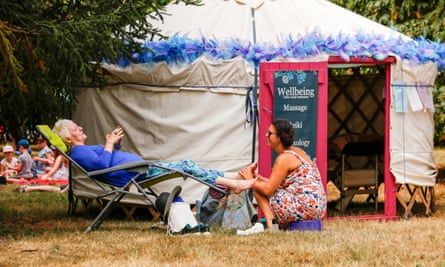 Reflexology at the Womad festival