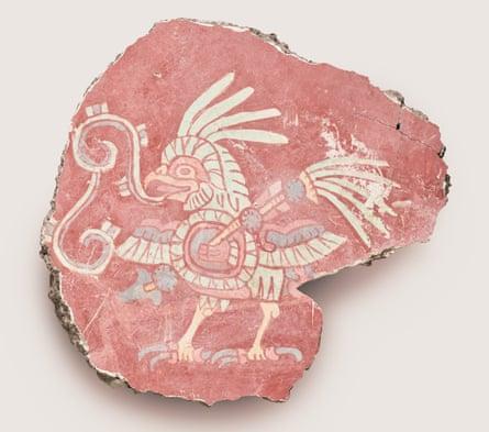 Armed bird … a fragment from a bird mural.