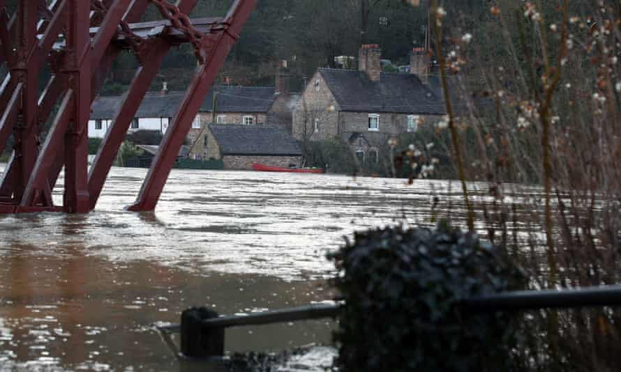 Flooding in Telford after Storm Christoph in January.