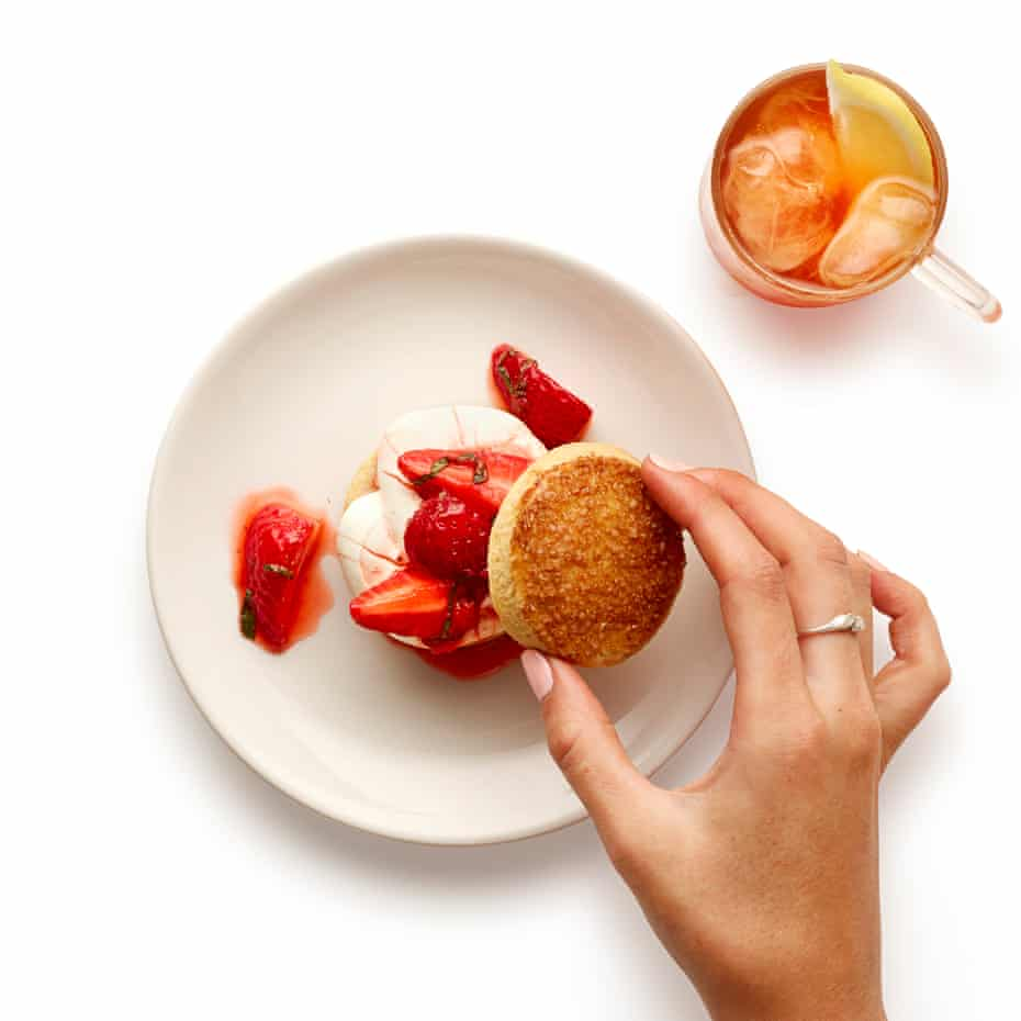 Popular both sides of the pond: Felicity Cloake's strawberry shortcake.