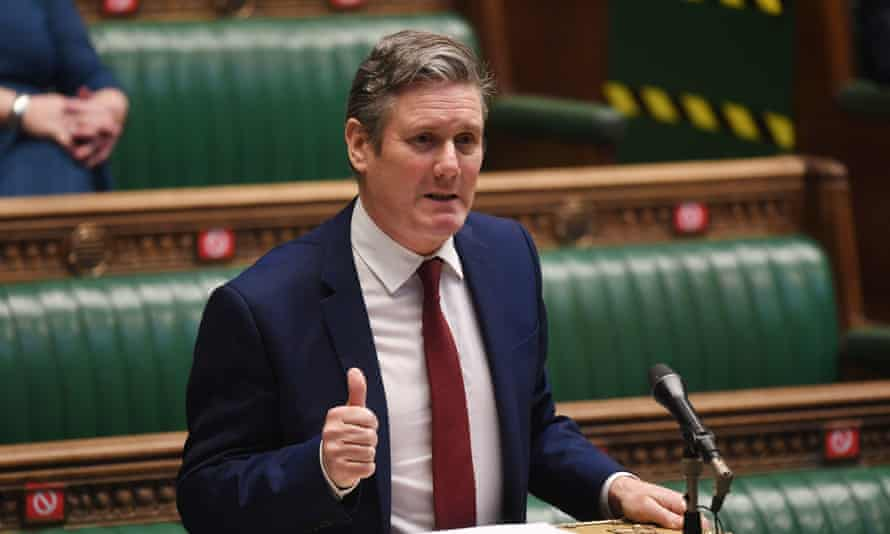 Keir Starmer speaking during Prime Minister's Questions in the House of Commons last week.