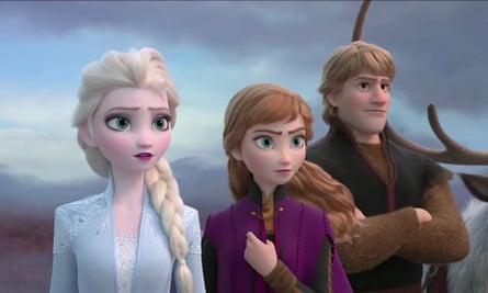 Elsa, Anna and Kristoff in Frozen II.