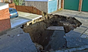 The sinkhole in Gosforth