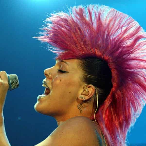 Pink performing in Switzerland in 2004