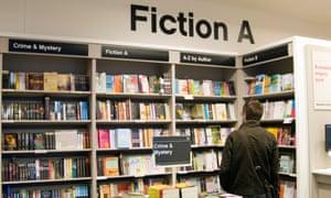 Browsing in an English bookshop.