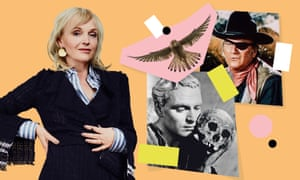 Clockwise from left: Miranda Richardson; a kestrel; John Wayne in True Grit; Laurence Olivier in Hamlet.
